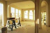 Sawhorse in home under renovation