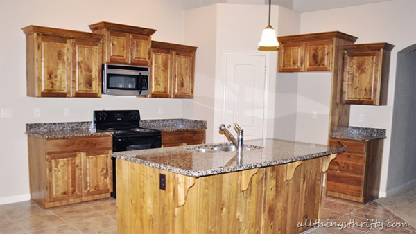 Unpainted cabinets