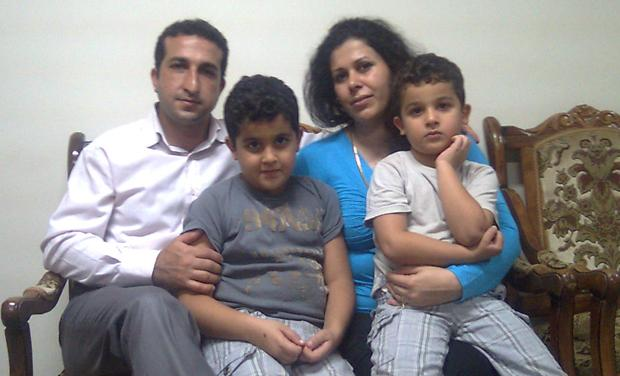 Christian pastor Youcef Nadarkhani and his family