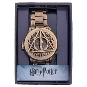 Harry Potter and the Deathly Hallows   Part 2   EB Games Australia Harry Potter   Deathly Hallows Gold Wristwatch