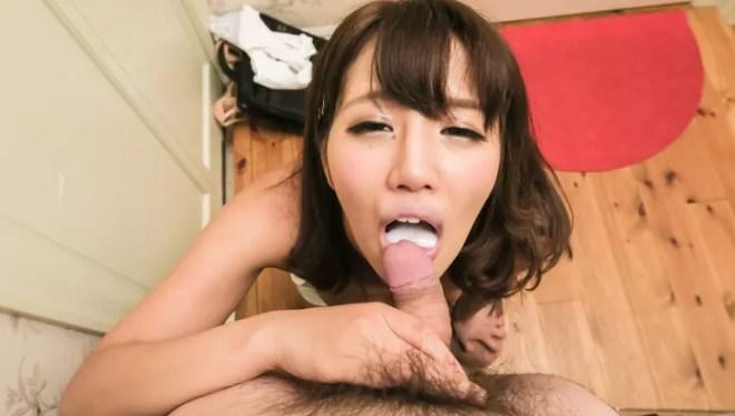 Sexy Konoha Kasukabe gives Asian blow job in POV