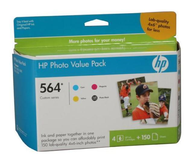 Hp Cg491an 564 Series Photo Value Pack  X 6 In Photo