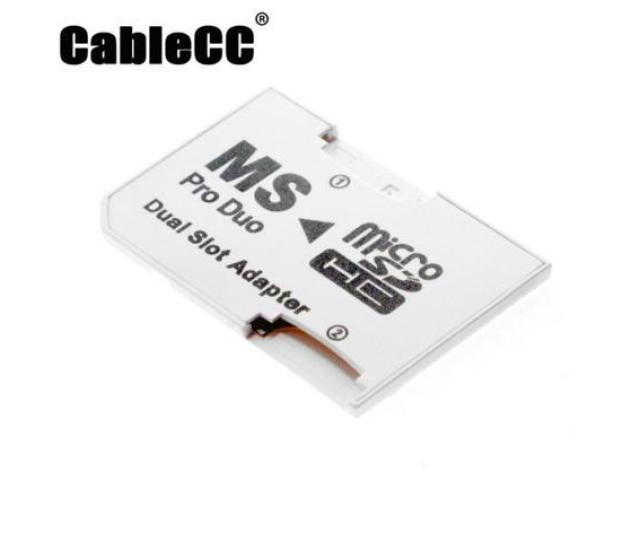 Cablecc Dual Slot Microsd Tf To Ms Memory Stick Pro Duo Adapter Sony Psp Mobile