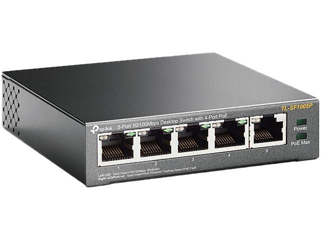 TP-Link TL-SF1005P 5-Port 10/100Mbps Desktop Switch with 4-Port PoE -  Newegg.com