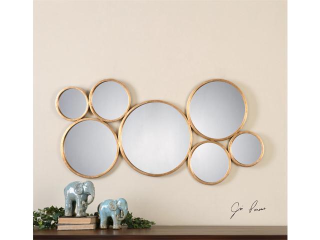 "24"" Circular Slightly Antiqued Gold Metal Rings Decorative"