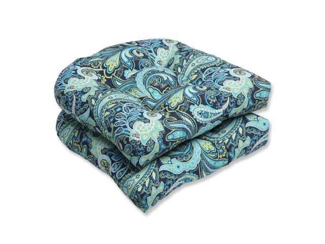 Set Of 2 Sogno Paisley Blue, Green And White Outdoor Patio