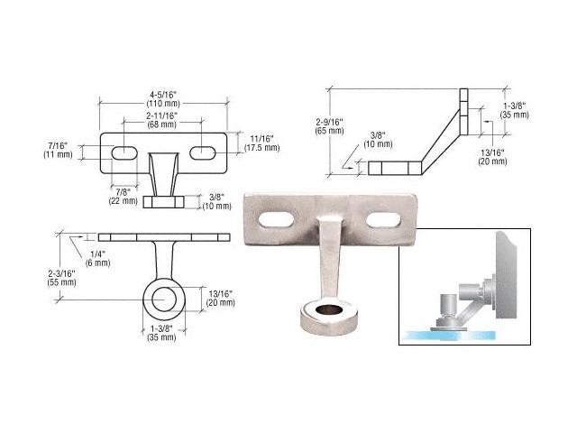 CRL Polish Stainless Single Arm Wall / Fin Mounted Fitting