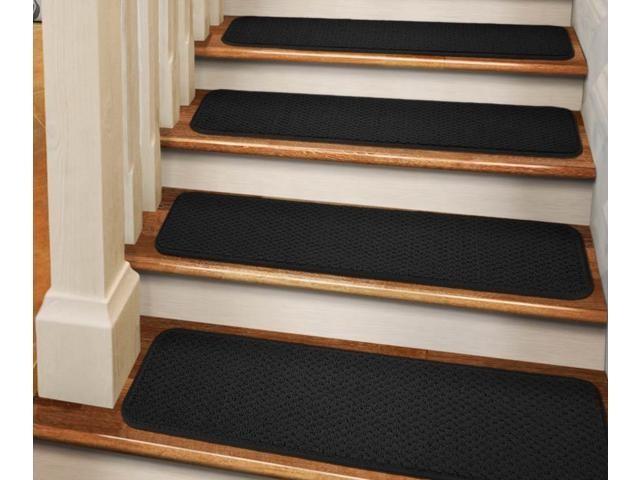 Set Of 15 Adhesive Carpet Stair Treads Black 9 In X 36 In | Wedge Shaped Carpet Stair Treads | Beige | Spiral Stairs | Wood | Adhesive Carpet | Flooring