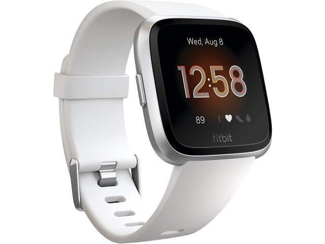 Fitbit Versa Lite Edition FB415SRWT Smartwatch - White - Silver - One Size