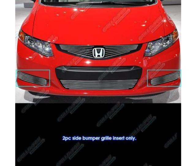 Fits 2012 2013 Honda Civic Coupe Si Fog Light Cover Billet Grille Grill Insert