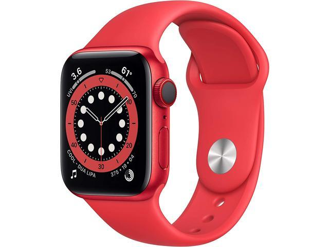 Apple Watch Series 6 40mm Red Aluminum Case with Red Sport Band GPS + Cellular M02T3LL/A