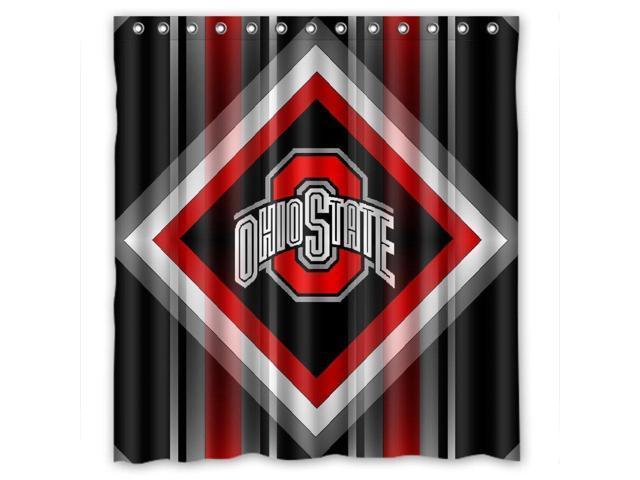 ohio state buckeyes design 66x72 inch bath shower curtains