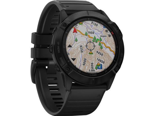 Garmin Fenix 6X Pro, Premium Multisport GPS Watch, -Black with Black Band - (010-02157-00)
