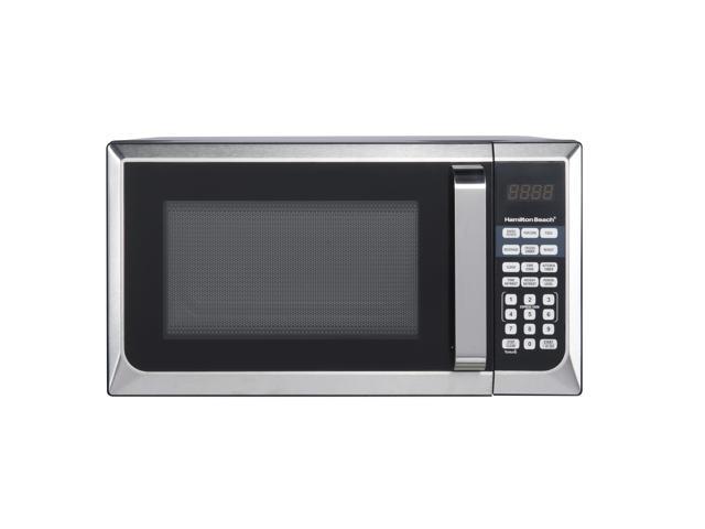 hamilton beach p90d23al wr beach 0 9 cu ft microwave oven stainless steel