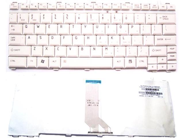Laptop White Keyboard For Toshiba