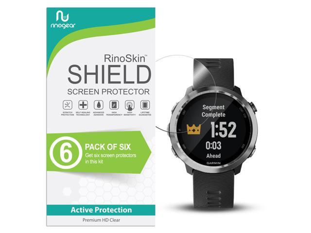 Garmin Forerunner 645 Screen Protector [6-PACK] RinoGear Case Friendly Screen Protector for Garmin Forerunner 645 Accessory Full Coverage Clear Film