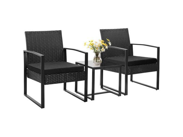 homall balcony furniture patio chairs set of 2 with table 3 piece patio furniture set bistro table set for garden backyard outdoor patio use porch