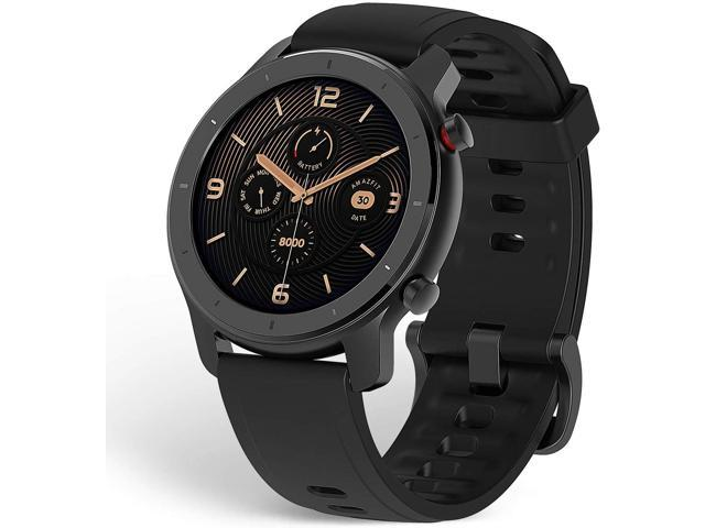 Amazfit GTR Smartwatch with GPS+GLONASS, All-Day Heart Rate Monitor, Daily Activity Tracker Rate and Activity Tracking, 10-Day Battery Life, 12- Sport Modes, 42mm, Black