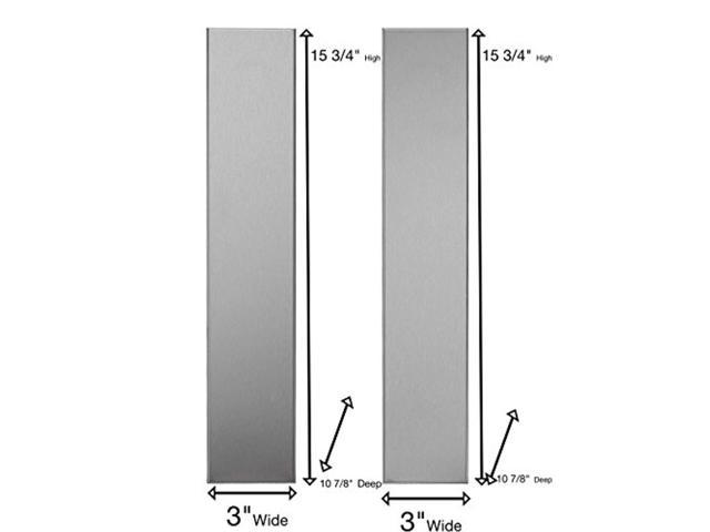 universal stainless steel over the range l shaped microwave fill filler kit fills a 36 wide by 15 3 4 tall spot mf3 ss
