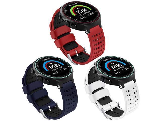 Oenfoto Compatible Garmin Forerunner 235 Watch Band, Soft Silicone Bracelet Sport Wristband Strap Replacement Watch Band for Garmin Forerunner 235/220/230/620/630/735XT-3 Pack