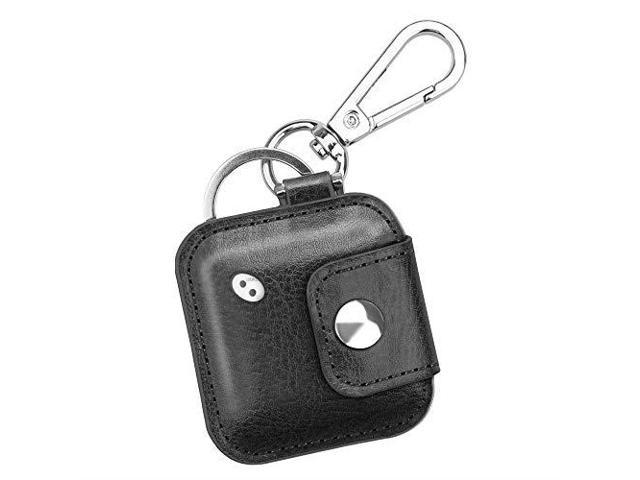 case with carabiner keychain for tile mate tile pro tile sport tile style key finder phone finder antiscratch vegan leather protective skin cover with