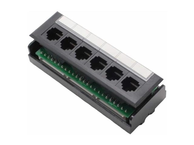 yankok cat5 cat5e 6 port replace patch panel unshielded with coded  t568a/b ethernet wiring diagram for 12/24/48 port cat5/5e patch panels to  replace