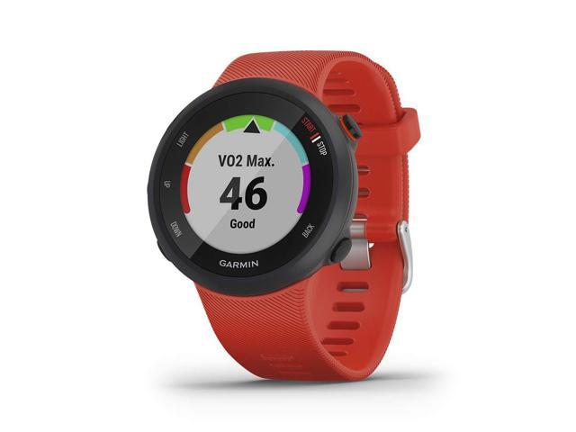 Garmin Forerunner 45, 42MM Easy-to-Use GPS Running Watch with Garmin Coach Free Training Plan Support, Red