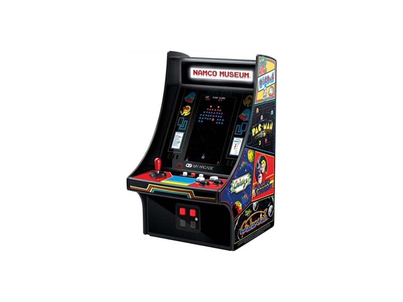 my arcade namco museum mini player 10 collectible retro arcade machine 20 arcade games pac man dig dug galaga galaxian rolling thunder and