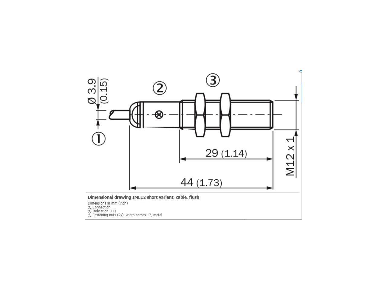 Sick Ime12 04bnszw2k Inductive Proximity Sensors Npn New