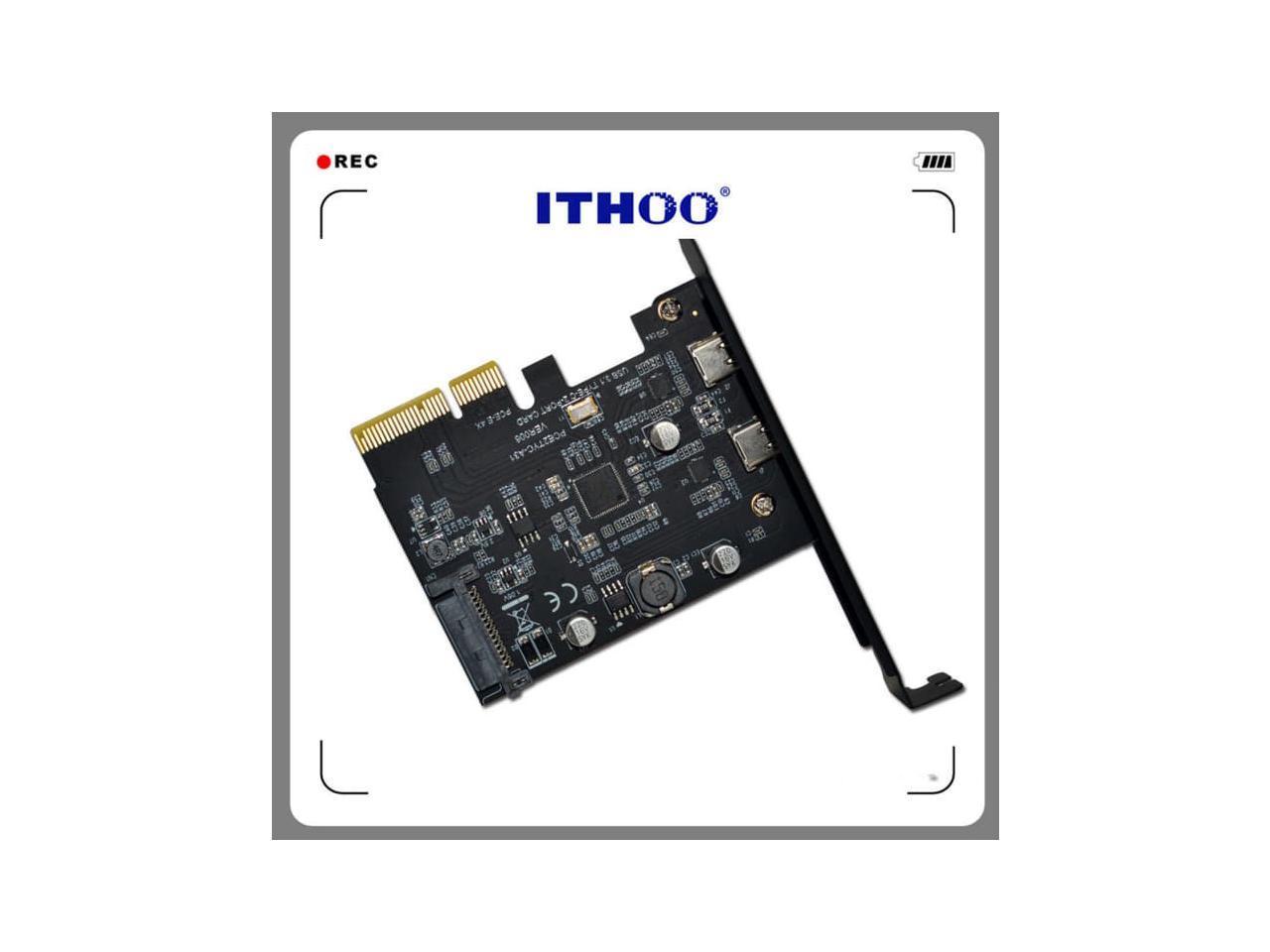 Tamppkon Dual Port Usb C Card 2x Usb C Usb 3 1 Pci E