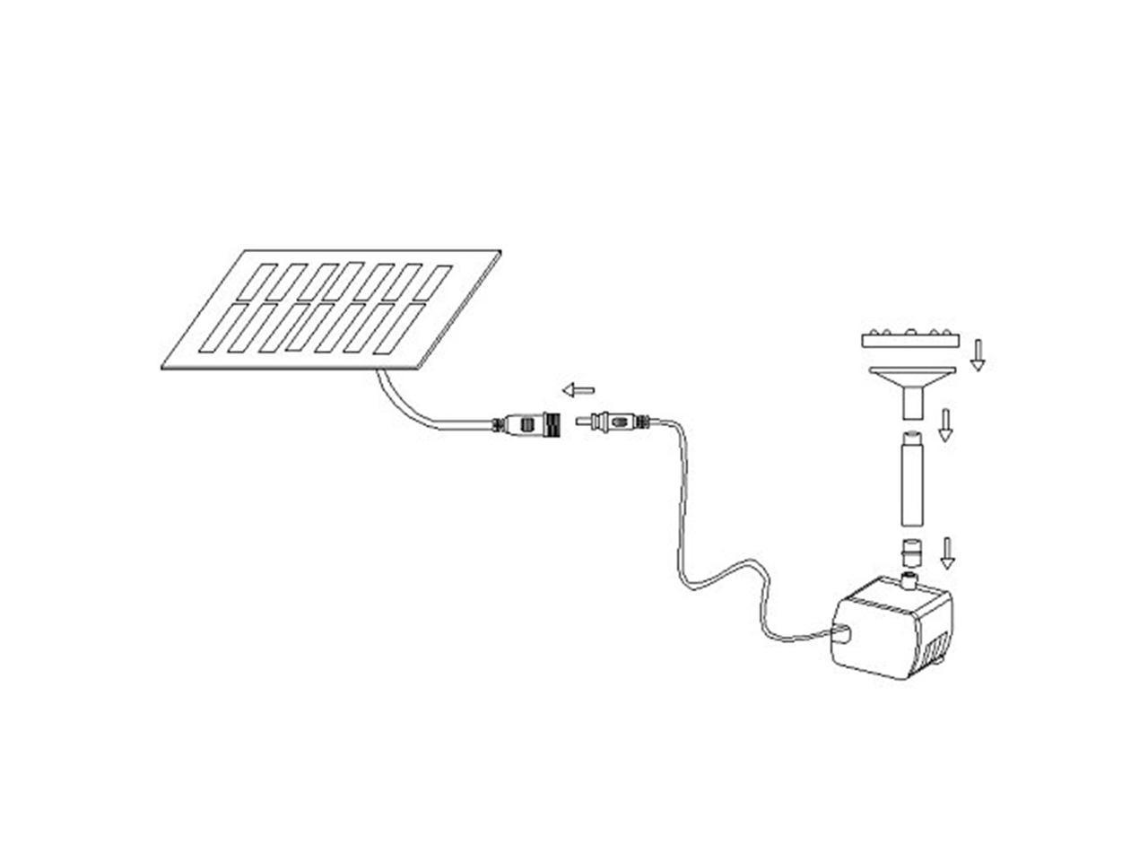 Solar Water Pump Kit 10w 9 8ft Wire Long W 7 Sprinkler