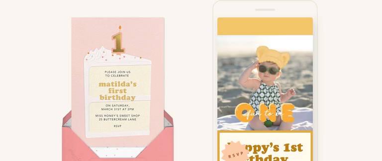 first birthday invitations send
