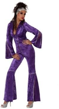 Fato Disco Veludo Púrpura | A Casa do Carnaval