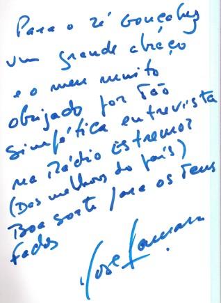 Autografo José da Cãmara