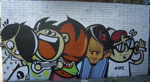 Barcelona Graffiti Characters Duncan C Flickr