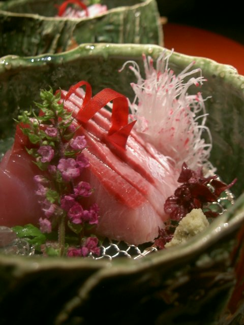 yellow tail buri sashimi