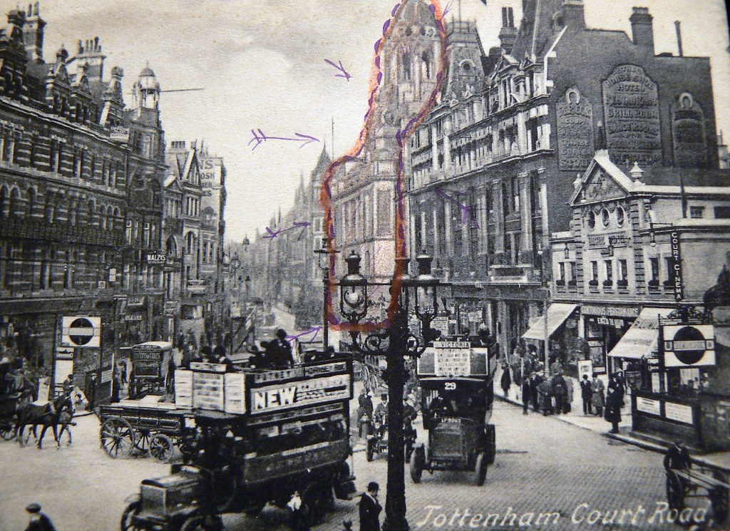Tottenham Court Road Circa 1900 From An Old Postcard