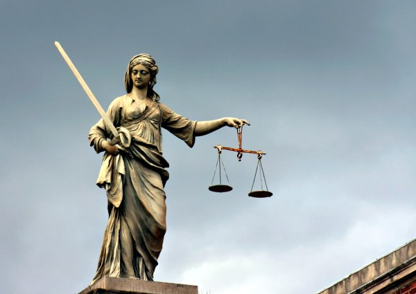 Lady Justice | Justice statue on a building in Dublin ...
