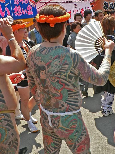 Yakuza Yakuza Members At The Sanja Festival Asakusa