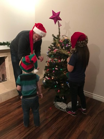 decorating the little tree