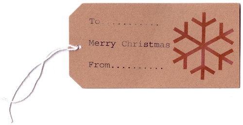 Christmas Tag My Christmas Gift Tag Design Made From