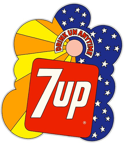 7 Up Peter Max Style Big Sticker 1960s Or 70s This Is Flickr