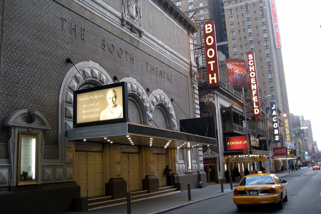 Nyc Theatre District Booth Theatre And West 45th Street