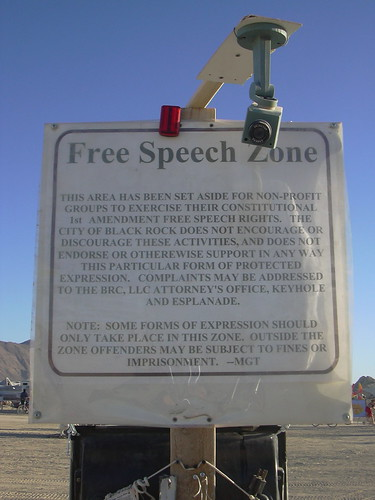 Free Speech Zone w/ camera