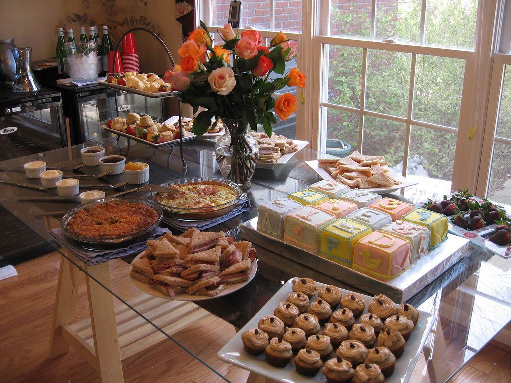 Baby Shower Food Table Amp Desserts The Food Spread For My