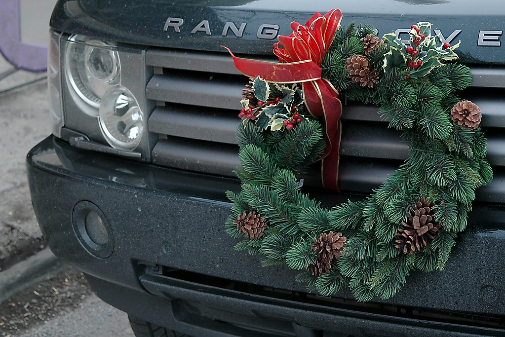 Image result for wreath on car