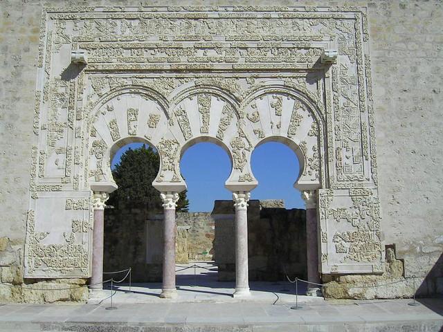 Entrada Al Palacio En Medina Azahara Entrance Medina Aza