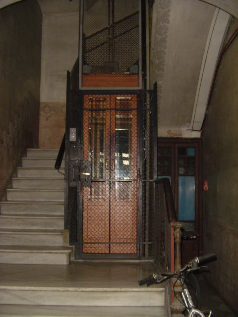 The Oldest Elevator In Barcelona Every Morning The Guy