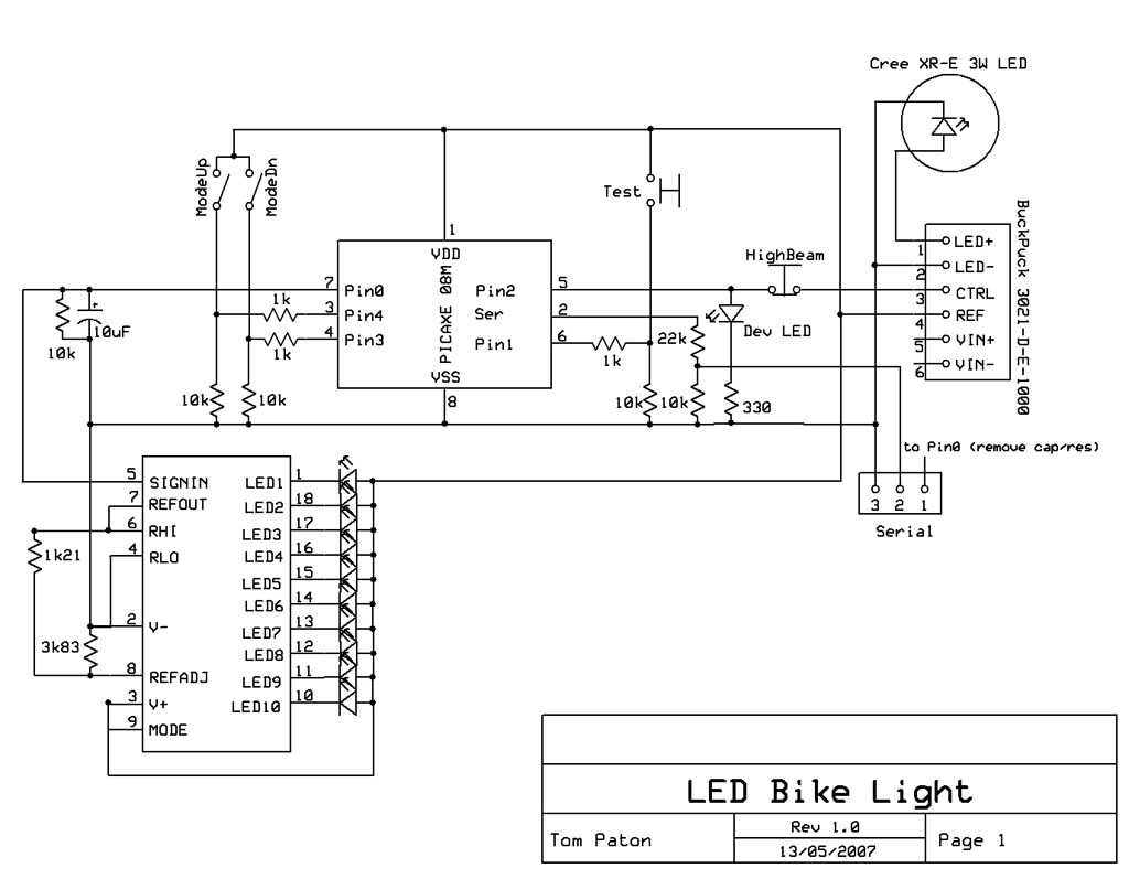Schematic For My Bike Light Project