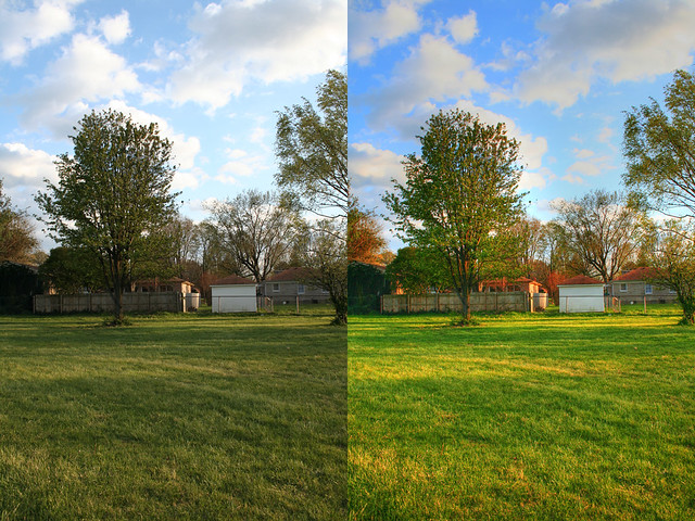 HDR Comparison | Comparison of the original jpeg with the ...